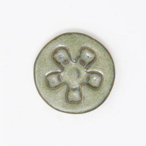 44029 Grønblå med effekt silkemat Ler 254