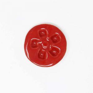 44035 Rød blank Ler 254